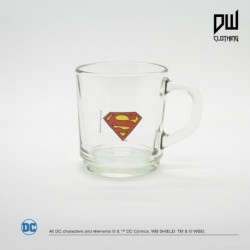 Taza Dc Vidrio Superman