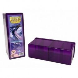 Caja 4 Compartimientos Dragon Shield Purpura