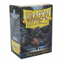 Folios Cartas X100 Dragon Shield Black Matte