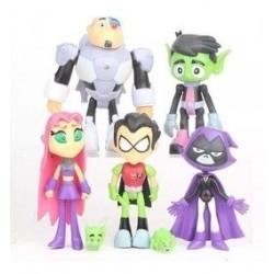 Set 5 Figuras Teen Titans