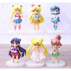 Sailor Moon Chibis Set X 6