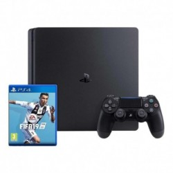 Sony Playstation 4 Slim 1tb + Fifa 19 Bundle Jet Black