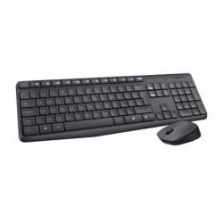 Teclado Y Mouse Wireless Mk235 Gris