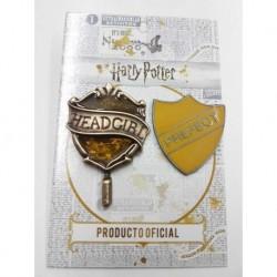 Dijes Hp Pin Headgirl + Prefecto Hufflepuff